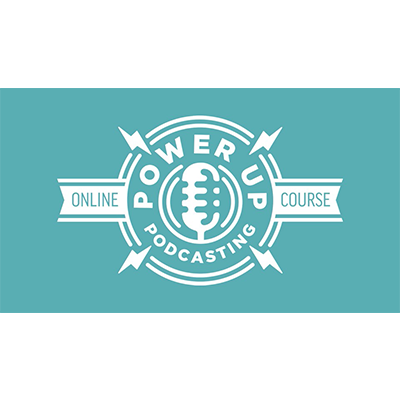 power up podcasting logo
